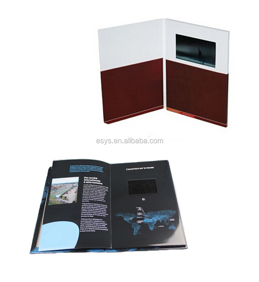 "2.4/2.8/4.3/5/7/10"" LCD Video Greeting Card/LCD Video Brochure/LCD Video Book for advertisement, gift,"
