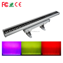 100% Facotry Direct Sale IP65 Outdoor Waterproof LED Strip Pixel Bar Wash 6in1 RGBWA+UV 24pcs 18w LED Wall Washer Light