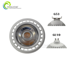 12w cob dimmable ac dc 230v indoor spotlight g53 gu10 ar111 led