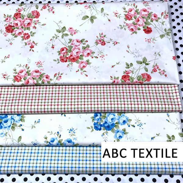 Retail New Fashion Cotton Material Printed Rose Fabric for Crib Set