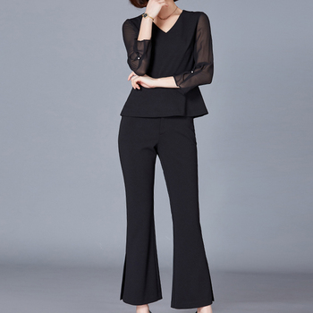 Wholesale woven ladies office formal pants