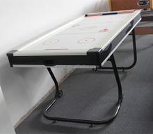 Cheap folding air hockey table with L shape Iron leg