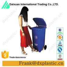 100L outdoor plastic pedal trash container,foot pedal trash bin