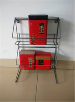 2 Tiers High Quality Light Duty Metal Tin Tea Display Rack