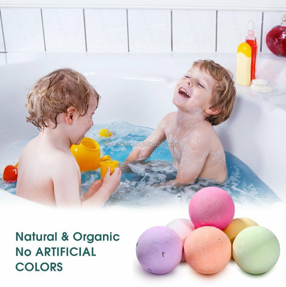 Organic fizzy bath spa gift set bath bombs fizzy