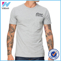 Yihao 2015 high quality mens 100% cotton printing t shirt custom design body fit blank t shirt wholesale in china