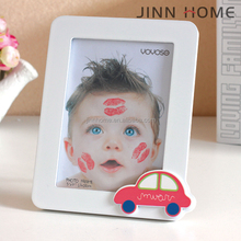 cute boy with small car decoration wooden photo frame 2017 Hot sale