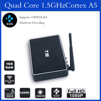 Full hd media player T8 metal AmlS802 quad core 4k tv box 2GB RAMXBM13.2 pre-installed google android smart tv box