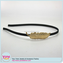 metal leaf fashion hot selling girls headband