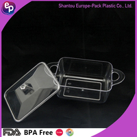 Food grade plastic plastic food packaging yogurt container /Ps clear plastic container with lid