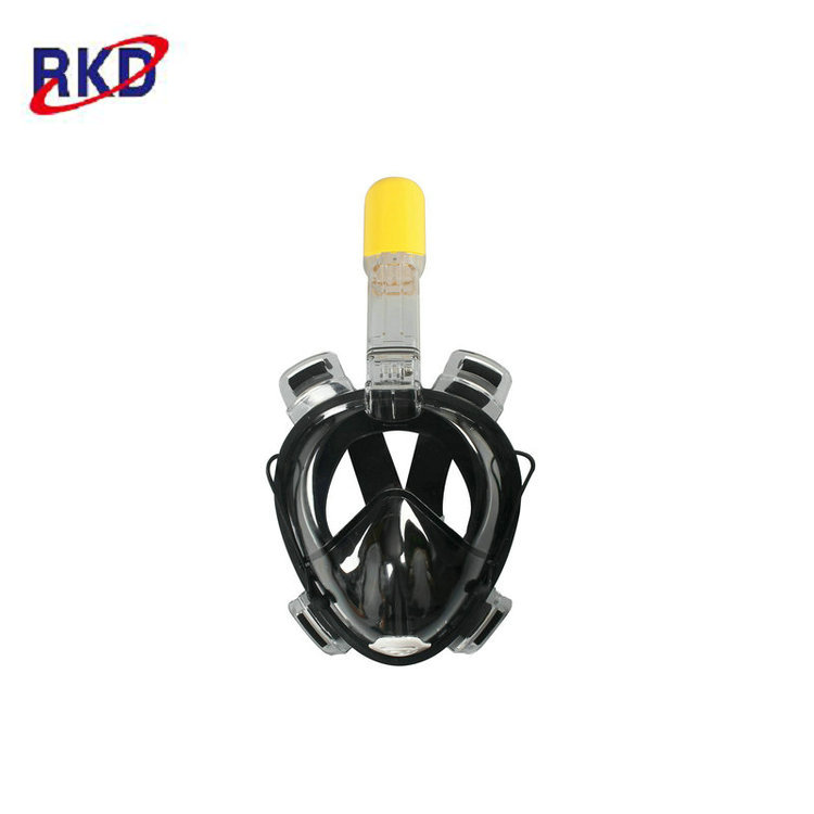 Hot Sales Kids One-piece Dual Ventilation AntiFog Channels Full Face Snorkel Mask