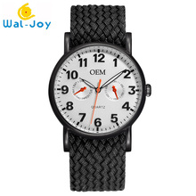 WJ8004 OEM Watches Men Casual Nylon Strap Custom-Made Quartz Watch Man Own Brand Custom Logo Wrist Watch