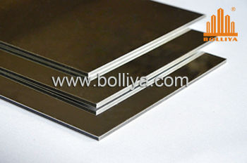 Anodized Mirror Brushed Hairline Aluminium composite panel