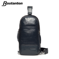 good quality genuine leather men sport chest pack bag for sale
