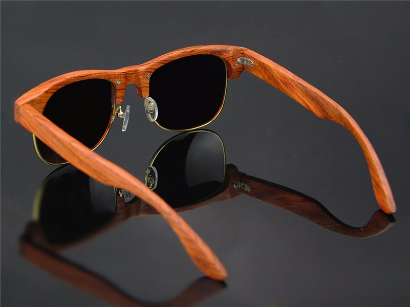 2017 Modern wood frame sunglasses custom sunglasses Wholesale Sunglasses