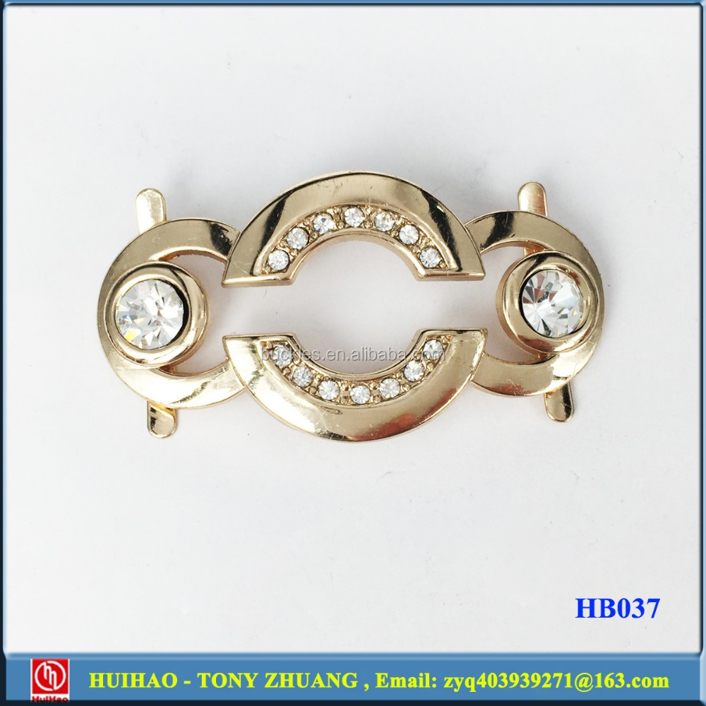manufactuer metal shoe buckle parts ornament for lady (HB037)