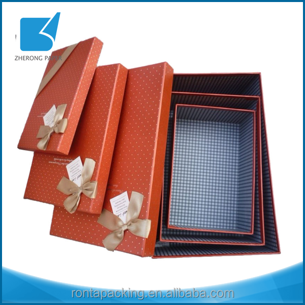 Integrity business eco-friendly OEM size wholesale decorative gift nesting boxes