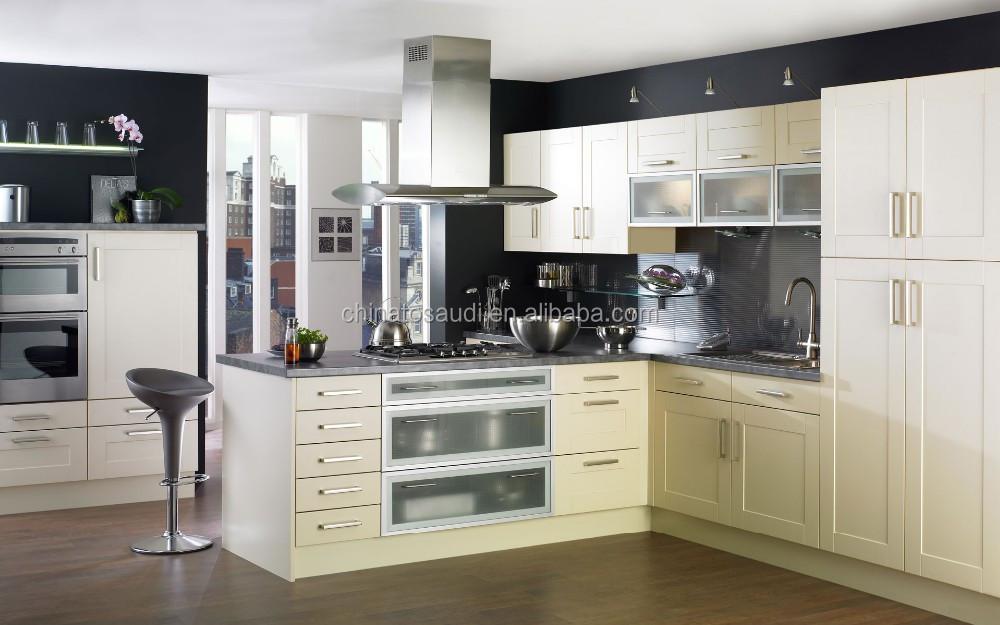 Custom Size Modern Style Stone Kitchen Cabinet Designs