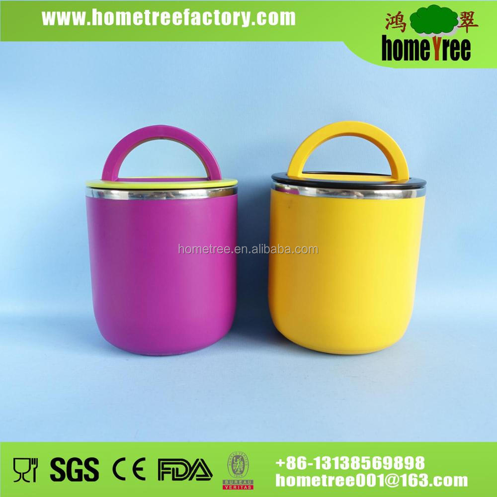 1.1L Thermal 304 Stainless Steel Lunch Box Bento Box With Handle