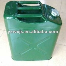 Square Metal Jerry can with plastic cap(pour oil cooler inside)