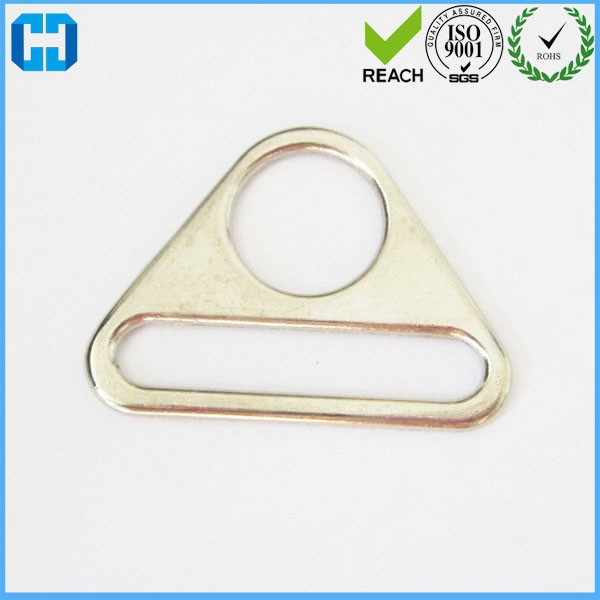 38mm Metal Adjuster Triangle Ring with Bar Swivel Clip D Dee Buckles