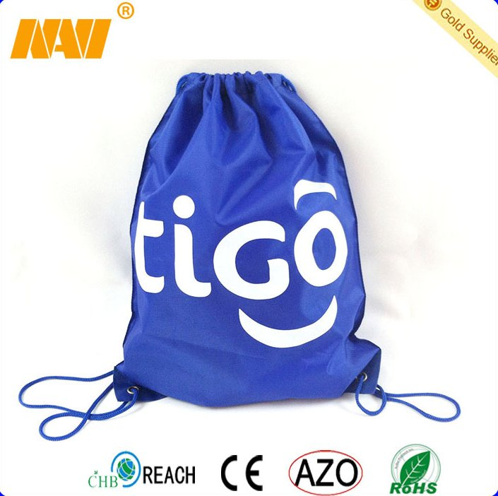 cheapest custom promotional 210d nylon polyester drawstring bag