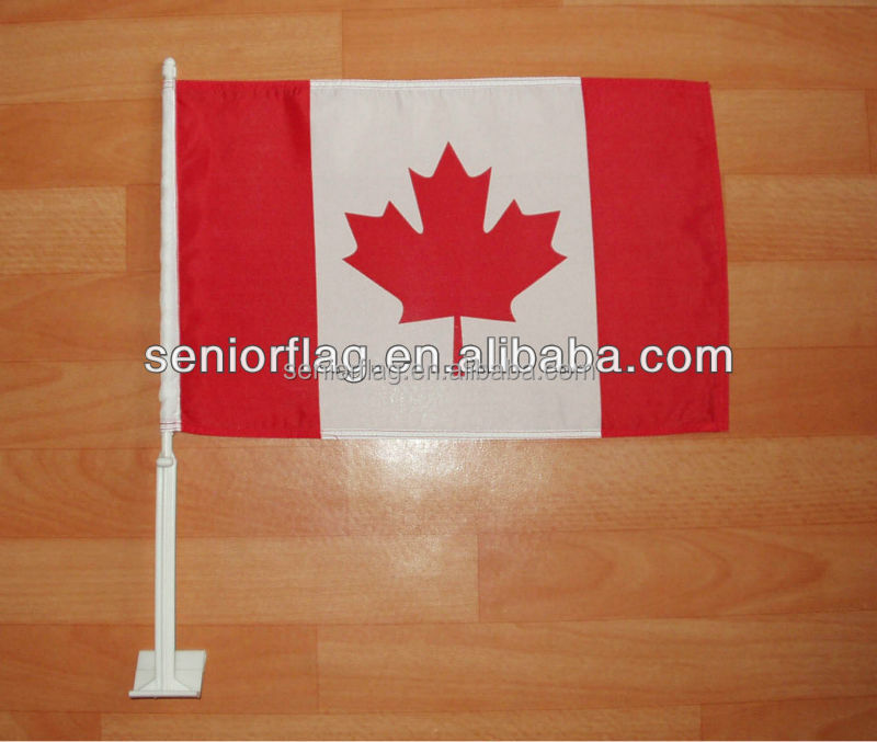Wholesale cheap holiday decorative polyester printed hanging canadian car flag