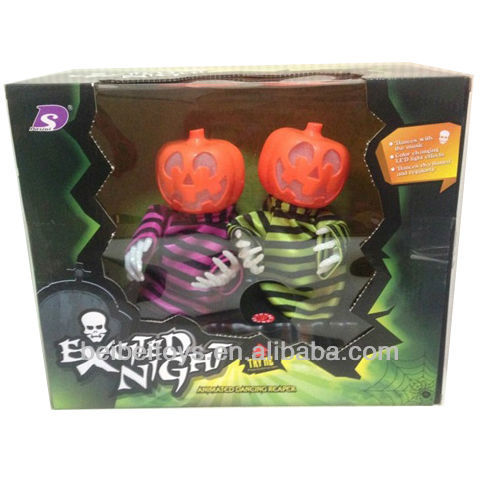 New LED Light Changing Musical Dancing Pumpkin Toy, Helloween Toys