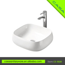 2016 Popular sanitary ware counter top white ceramic art surgical wash basin