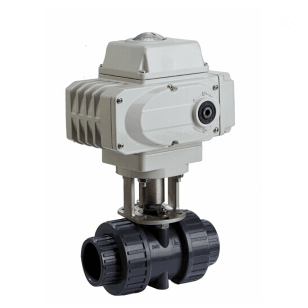 2 Way 1.5 Inch DN40 Electric Operated CPVC Ball Valve