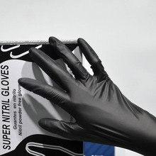 Disposable cut resistant black nitrile dyneema gloves powder free