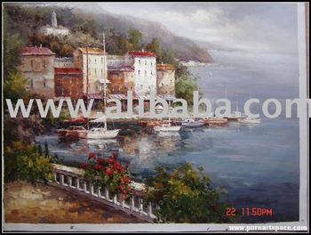 mediterranean sea oil painting reproduction ,any size is welcome