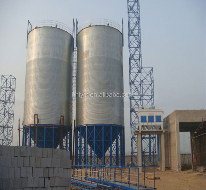 New Condition Paddy / Wheat Storage Silo / Steel Bins for Animal Feed Mill Plant
