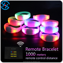 Factory price Remote Control Glow in the Dark Wristband with Silicone Strap, multicolor led bracelets China supply