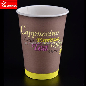 6oz 7oz 8oz 7.5oz Hot coffee paper cups for vending machine