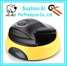 Time auto programmable covered pet food bowl