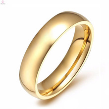 Wholesale Stainless Steel Gold Plated Rings Without Stones Women
