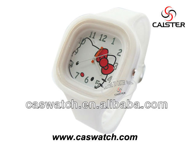 Good quality cute silicone watch for kid hello ketty dial