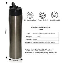 Hot sale unique design portable double wall stainless steel travel coffee press
