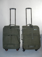 Army Green Casual Nylon Travel Luggage Bag