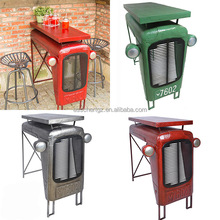 Tractor shape design metal hammered finish industrial retro furniture