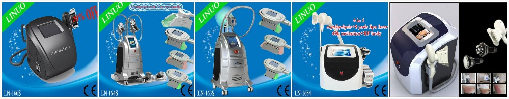 Multifunction lipo laser rf fat reduction cryolipolysis