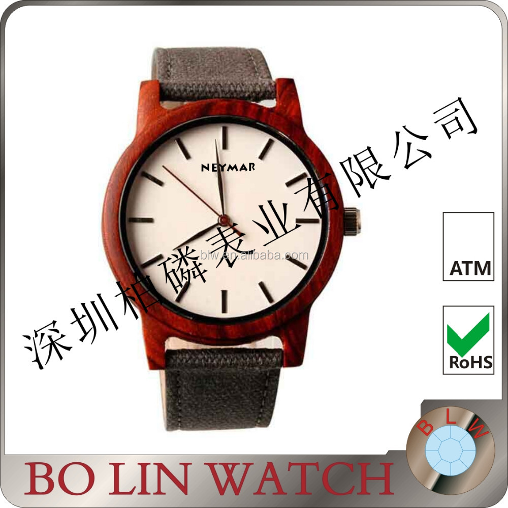 Simple Fashion Wooden Quartz Movement Watch sandal wood case