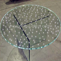 Prima transparent table tops LED glass decorative building glass