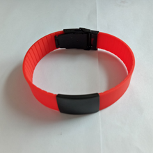 Skin Friendly Silicone Band Bicycle Sport Bracelet Steel Slider