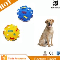Soft Rubber Pet Dog Toys Ball Natural Teething Rubber Dog Toy
