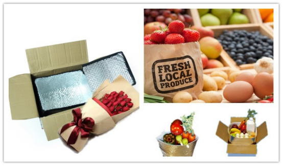 cool insulate bag fruit insulted box liner delivery,72 hour thermal insulation box liner