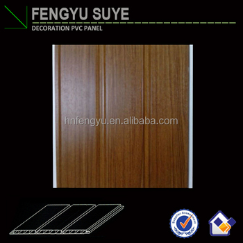 Pop Design for Indian market 300mm 2-Groove Laminated PVC Wall Panel & PVC Panel with Holes