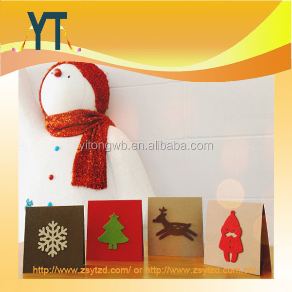 OEM Creative Christmas Card Wool Felt Fabric