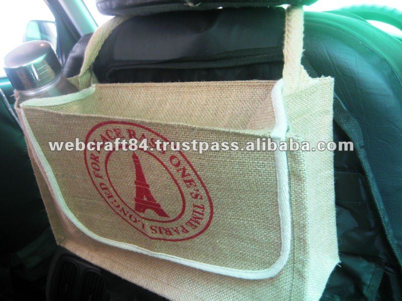 Natural Jute Automobile Caddy